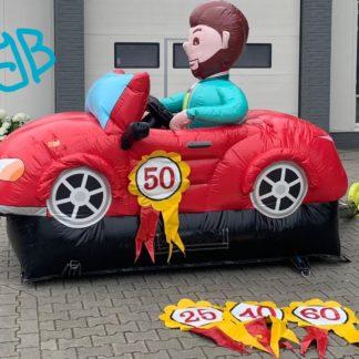 50 jaar Abraham in auto pop
